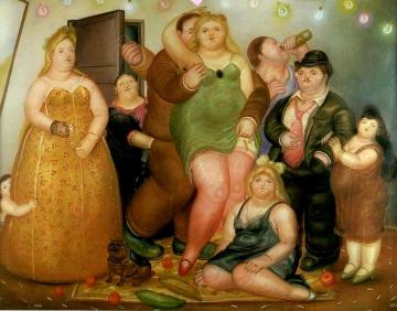 The House Of Raquel Vega (medellin, Colombia) Artwork by Fernando Botero
