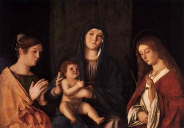 Sacred Conversation Artwork by Giovanni Bellini