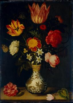 Still Life with Flowers in a Wan-Li vase Artwork by Ambrosius Bosschaert