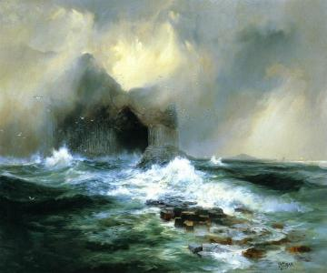 Fingal's Cave, Island Of Staffa, Scotland Artwork by Thomas Moran