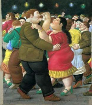 Dancers Artwork by Fernando Botero