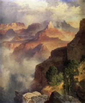 A Bit Of The Grand Canyon - Grand Canyon Of The Colorado River Artwork by Thomas Moran