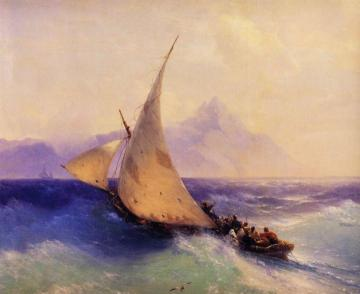 Rescue at Sea (detail) Artwork by Ivan Constantinovich Aivazovsky
