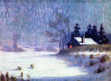 One Winter's Evening Artwork by Frank V. Dudley
