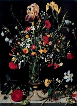 A still life of flowers in a vase Artwork by Ambrosius Bosschaert