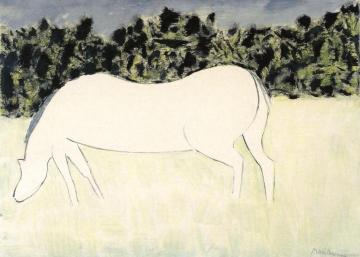 White Horse Artwork by Milton Avery