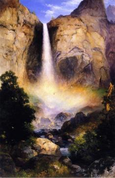Bridalveil Fall, Yosemite Valley Artwork by Thomas Moran