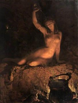 An Incantation Artwork by John Maler Collier