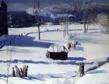 Blue Snow, the Battery Artwork by George Wesley Bellows