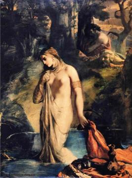 Susanna and the Elders Artwork by Theodore Chasseriau
