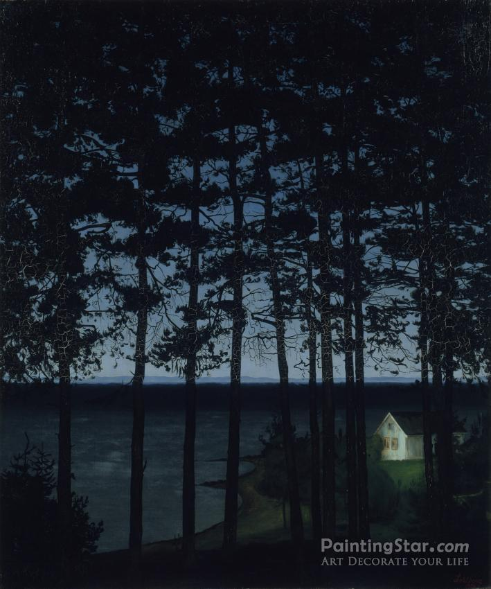 Fisherman's Cottage Artwork by Harald Oskar Sohlberg
