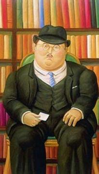 The Notary Artwork by Fernando Botero