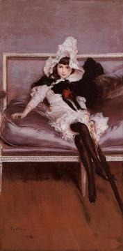 Portrait of Giovinetta Errazuriz Artwork by Giovanni Boldini