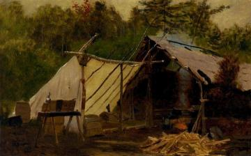 Camp in the Maine Woods, No. 3 Artwork by John George Brown