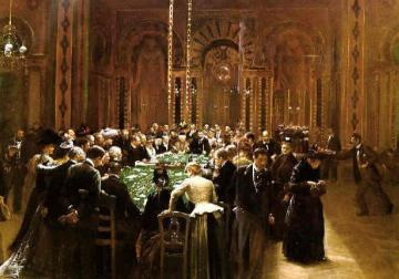 The Casino At Monte Carlo Artwork by Jean Georges Beraud