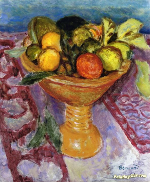 Fruit Bowl Artwork By Pierre Bonnard Oil Painting Art Prints On