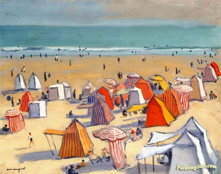 the sandy beach at olonne artwork by albert marquet oil painting