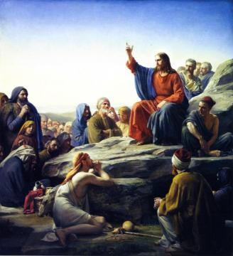 Sermon On The Mount Artwork by Carl Heinrich Bloch