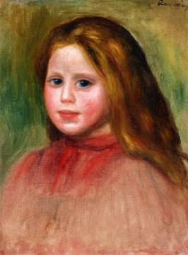 Portrait Of A Girl Artwork by Pierre Auguste Renoir