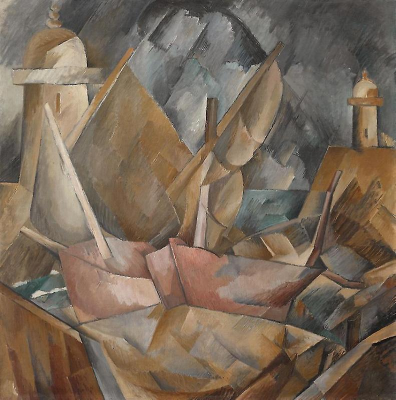 Harbor in Normandy Artwork by Georges Braque