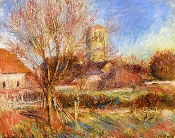 The Church at Essoyes Artwork by Pierre Auguste Renoir