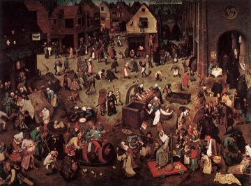 The Fight Between Carnival And Lent Artwork by Pieter Bruegel the Elder