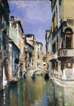 Canal In Venice, San Trovaso Quarter Artwork by Robert Frederick Blum