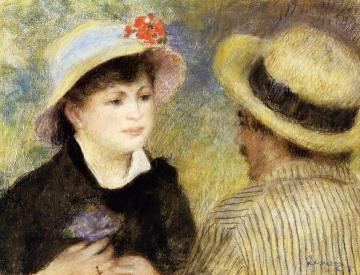 Boating Couple Artwork by Pierre Auguste Renoir