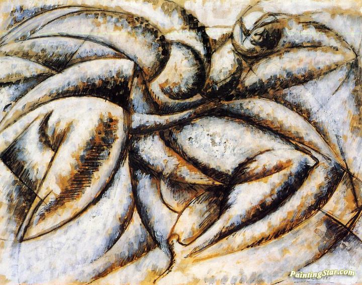 Dynamism Of The Human Body Artwork By Umberto Boccioni Oil Painting Art Prints On Canvas For Sale Paintingstar Com Art Online Store
