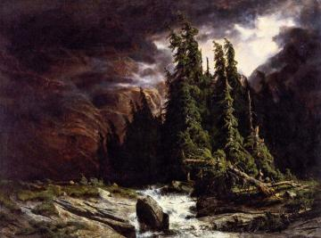 The Thunderstorm at Handeck Artwork by Alexandre Calame