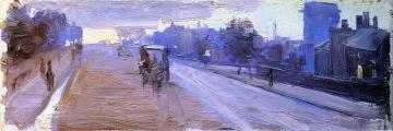 Hoddle Street, 10 P.m. Artwork by Sir Arthur Streeton
