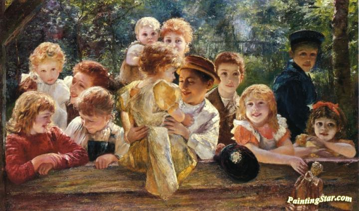 Happy Children Artwork by Paul Barthel