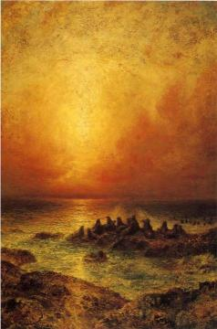 Seal Rocks Artwork by Ralph Albert Blakelock