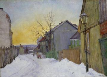 Street In Oslo Artwork by Harald Oskar Sohlberg
