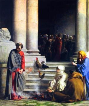The Denial of Peter Artwork by Carl Heinrich Bloch