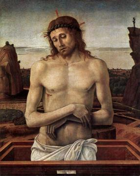 Dead Christ in the Sepulchre(Pieta) Artwork by Giovanni Bellini
