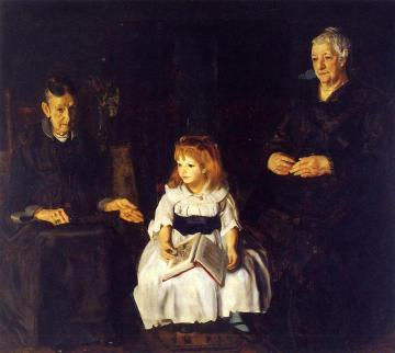 Elinor, Jean and Anna Artwork by George Wesley Bellows