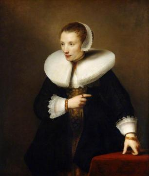 Portrait of an Unknown Woman Artwork by Ferdinand Bol