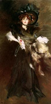 Mademoiselle Lanthelme Artwork by Giovanni Boldini