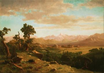 Wind River Country Artwork by Albert Bierstadt
