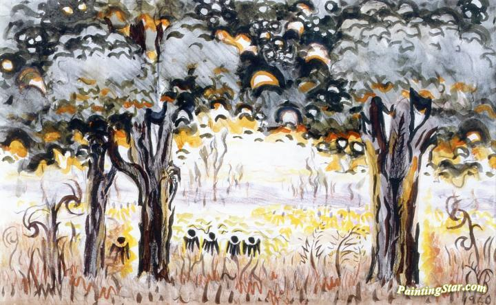Sultry Vista Artwork by Charles Burchfield