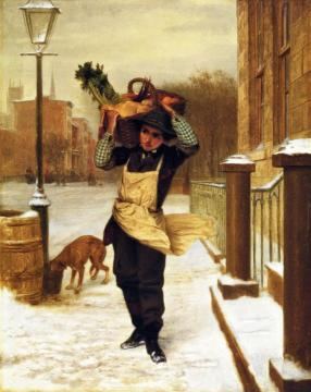 Delivery Boy Artwork by John George Brown