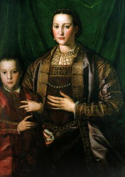 Eleonora di Toledo, Duchess of Florence, with her son Francesco, Artwork by Agnolo Bronzino