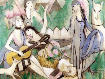 Brigitte Sourdel Artwork by Marie Laurencin Oil Painting ...