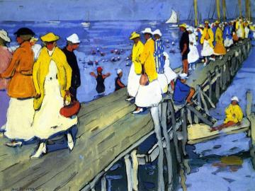 The Landing Pier, Edgertown Artwork by Jane Peterson