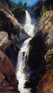 Mary's Veil, A Waterfall In Utah Artwork by Thomas Moran