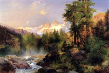 The Three Tetons Artwork by Thomas Moran
