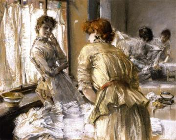 In the Laundry Artwork by Robert Frederick Blum