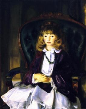 Anne in Purple Wrap Artwork by George Wesley Bellows