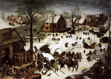 The Census at Bethlehem Artwork by Pieter Bruegel the Elder